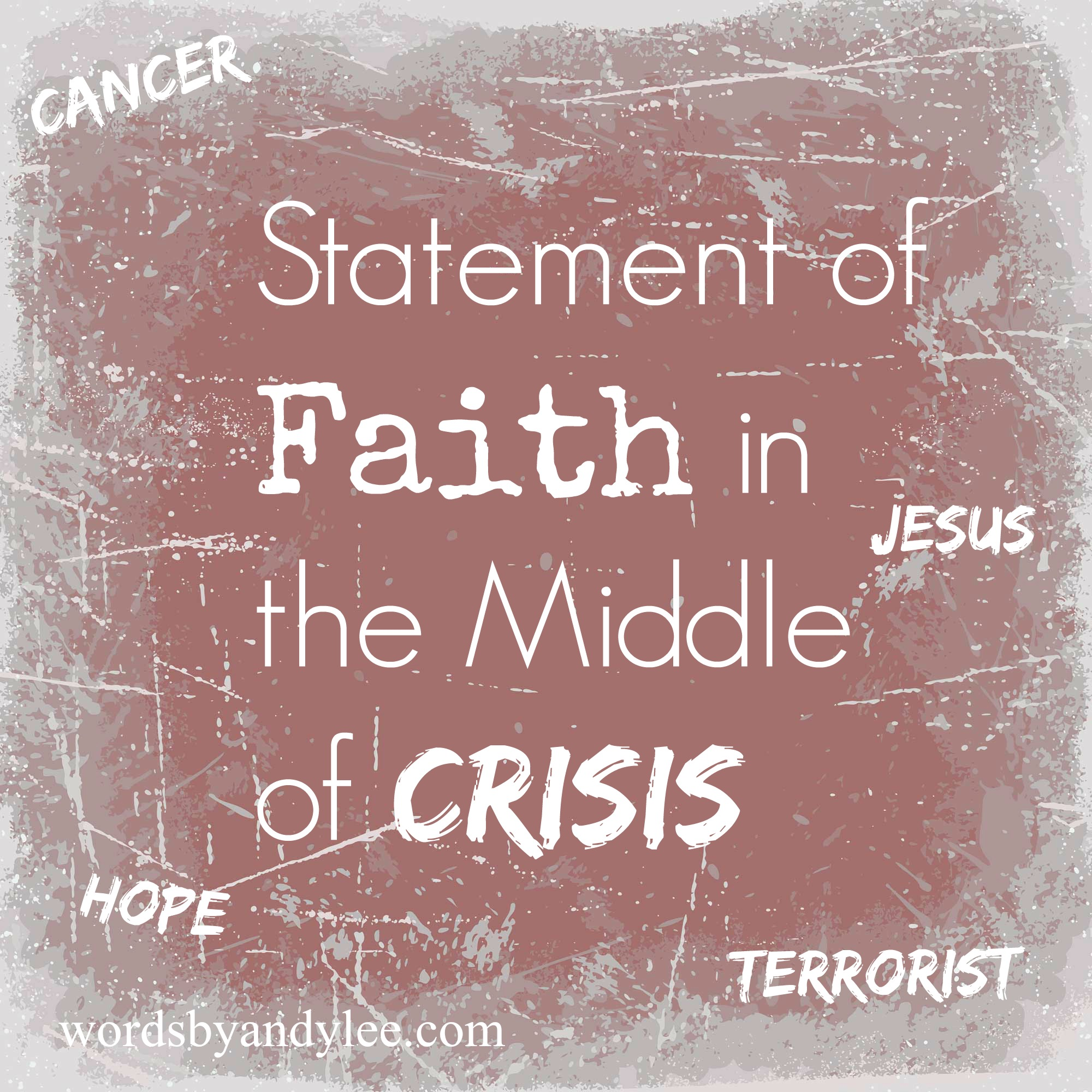 my personal statement of faith Statement of faith we believe the bible to be the only inspired, trustworthy and true, without error, word of god (2 timothy 3:16-17) we believe there is only one god who eternally exists in three persons: father, son and holy spirit.